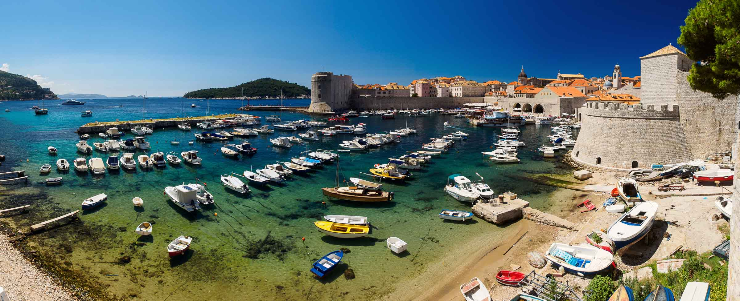 Dubrovnik view over Harbour, Croatia